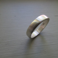 4.5mm wide rounded wedding band mens wedding ring sterling silver ring