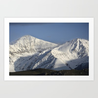 Hight snowy mountains. 3489 meters Art Print by Guido Montañés