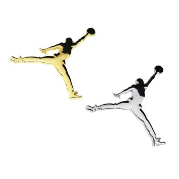 Car-styling Jordan Jumpman Metal 3D Car Styling Auto Stickers On Car Sticker Decor Mot