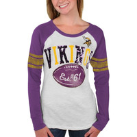 Minnesota Vikings Women's Roll Out Thermal – Purple/White