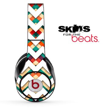 Multi-Color Chevron Pattern Skin for the Beats by Dre Solo, Studio, Wireless, Pro or Mixr
