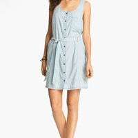 Rubbish® Chambray Bustier Dress (Juniors) | Nordstrom