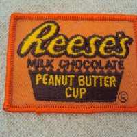 Vintage 70s Sew On Reeses Milk Chocolate Peanut Butter Cup Sew On Patch