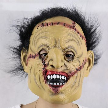 Full Face  Horror Halloween Mask Monster Supplies Scary Mask Masquerade Latex Cosplay Costume