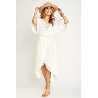 Surf Gypsy Eyelet Embroidered Maxi Coverup