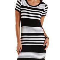 Striped Ringer T-Shirt Dress by Charlotte Russe