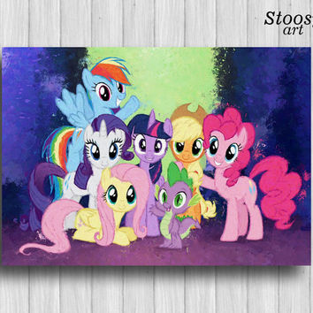 my little pony print girl room decor nursery wall art