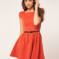Lipsy Dress With Cut Out Back at asos.com