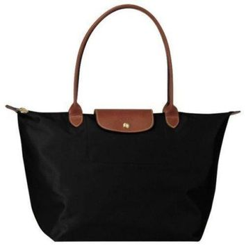ONETOW Longchamp Le Pliage black tote bag L