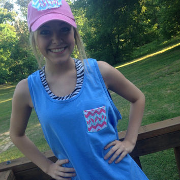 Monogrammed comfort color tanks oversized, embroidery, initials, sorority love , mothers day
