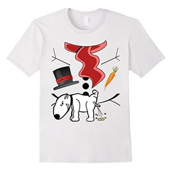 Funny Snowman and Dog Christmas Costume T-shirt
