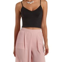 V-Neck Cropped Tank Top by Charlotte Russe