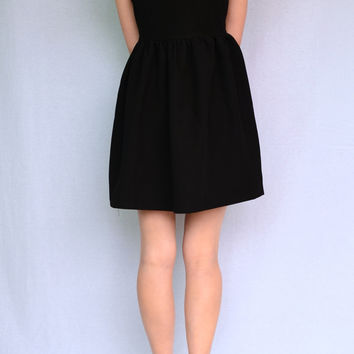 LOVE ME TENDER BACK HEART DRESS in BLACK