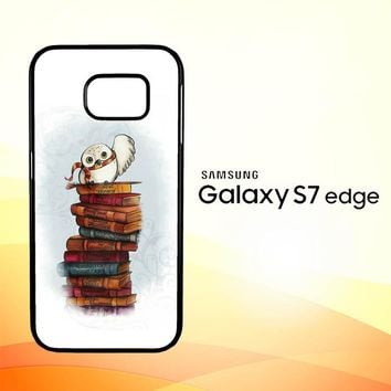 Hedwig Harry Potter Owl X4756 Samsung Galaxy S7 Edge Custom Case