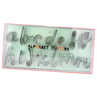Script Alphabet Cutter Set