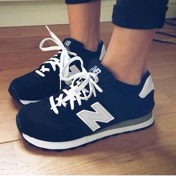 New Balance Z-shaped shoes sports casual running shoes tide retro shoes Black