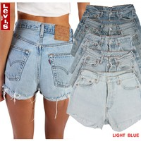 Levi's 501® Denim Shorts - High Waisted Hotpants Grade A