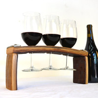 "WINE FLIGHT - ""Volo"" - Wine Flight / Glass holder - 100% recycled"