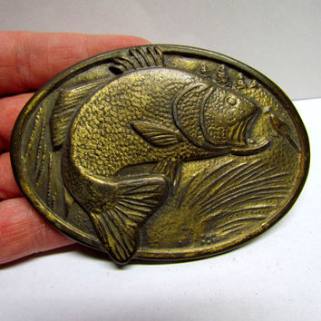Vintage Belt Buckle, Bass / Fish / Fishing