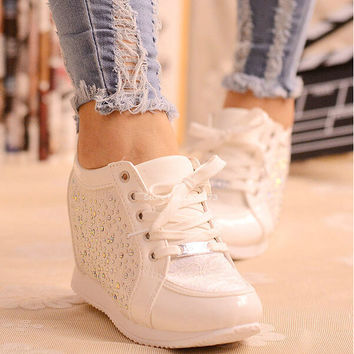 Women's Rhinestone Elevator Shoes