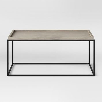 Bennington Mixed Material Coffee Table - Threshold™