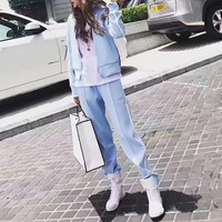 """Givenchy"" Women Casual Embroidery Letter Star Stripe Zip Cardigan Long Sleeve Set Two-Piece Sportswear"