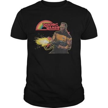 Levar Burton reading Rambo shirt Guys Tee