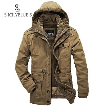 Winter warm Thickening Loose Coat Twinset Increase Down Cotton-padded Clothes Male Time Parkas maintains warmth