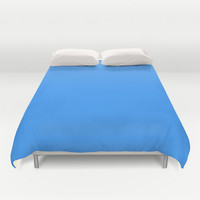 Brilliant Azure Duvet Cover - 3399FF - Twin, King Queen Size Duvet - Blue Blanket - Blue Duvet - Blue Bedding