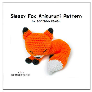 Sleepy Fox Amigurumi - PDF Crochet Pattern