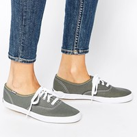 Keds Champion Canvas Graphite Plimsoll Trainers