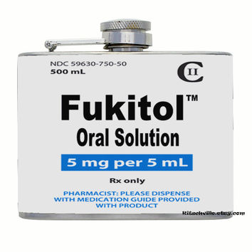 FUKITOL Flask ~ Fun Gift For Medical, Pharmacy, Hospital Workers
