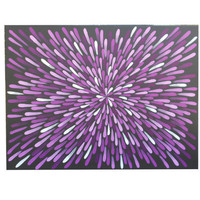 Painting, Purple, Aboriginal Inspired, Abstract, 18 X 24