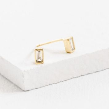 Mini Rectangle Stone Studs