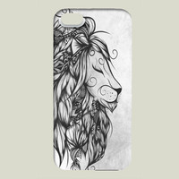 Poetic Lion B and W iPhone case by loujah on BoomBoomPrints