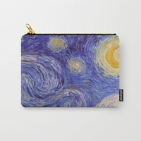 Vincent Van Gogh Starry Night Carry-All Pouch by artgallery