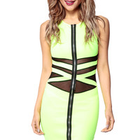 Life of the Party Neon Green Dress