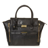 Winged Pushlock Tote - Bags & Purses  - Bags & Accessories