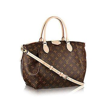 DCCK LV Women Shopping Leather Authentic Louis Vuitton Monogram Canvas Turenne MM Tote Bag