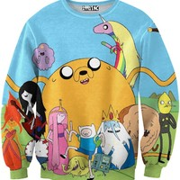 Adventure Time Blue Sweater
