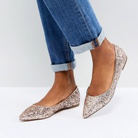 ASOS LATCH Pointed Ballet Flats at asos.com