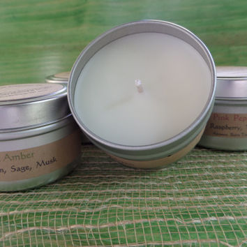 Hand Poured Artisan Candle Tins - Custom Soy Blend. Holiday Candles. Soy Candles. Cedar Creek Fragrance Co.