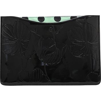 """Studio C - One Shine Day Collection Skinny Sleeve for 13"""" Apple® MacBook Air® - Black/Mint/White"""