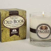 Old Book Scented Candle Candles for Book Lovers