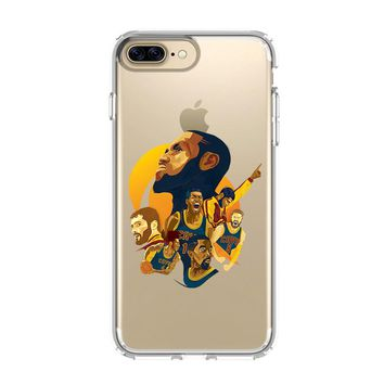 LEBRON JAMES CLEVELAND CARTOON iPhone 4/4S 5/5S/SE 5C 6/6S 7 8 Plus X Clear Case