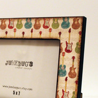 5x7 Photo Frame Colorful Collection of Guitars