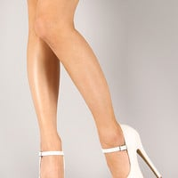 Salome-36 Leatherette Mary Jane Stiletto Platform Pump