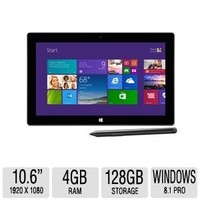 Microsoft Surface Pro 2 with 128GB, Windows 8.1 Pro - Dark Titanium