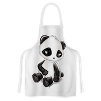 "Geordanna Cordero-Fields ""My Panda Sketch"" Black White Artistic Apron"