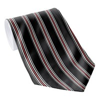 Red Black and White Striped Tie | Vertical Stripes